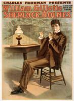 Promotional poster for the play Sherlock Holmes (1
