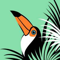 Stylized Toco Toucan Art Prints & Posters by Pixel Paint Studio