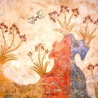 Akrotiri Spring Fresco West Wall Swallows Scene Art Prints & Posters by W. Sheppard Baird