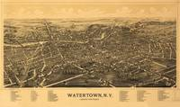 Aerial View of Watertown, Wisconsin (1885)