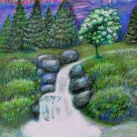 A Babling Brook Art Prints & Posters by William Lockett