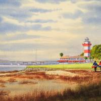 """Harbour Town Golf Course Painting"" by billholkham"