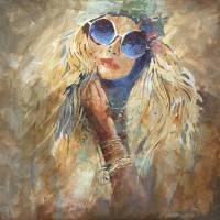 """Hippie Girl"" by WillyDaleArt"