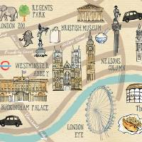 Map of London by Ohn Mar Win Art Prints & Posters by They Draw & Cook & Travel