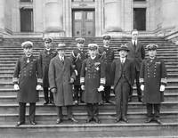 [Group portrait of Mayor L.D. Taylor with Vice Adm