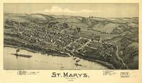 Aerial View of St. Mary's, West Virginia (1899)