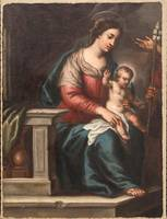 ITALIAN SCHOOL 17TH,18TH CENTURY , Madonna and Chi