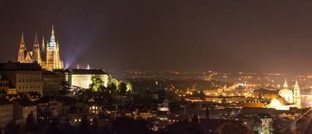 Prague - Night Overview