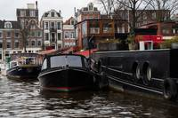 Amsterdam daytime canal boats
