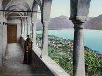 Switzerland, 1890, A view of Locarno from the Mado