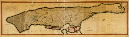 Map New York City and Manhattan Island (1807)