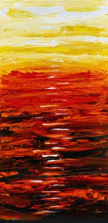 Flaming Sunset Abstract 205173