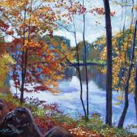 VIEW ACROSS THE LAKE Art Prints & Posters by David Lloyd Glover