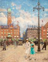 PAUL FISCHER, CITY HALL SQUARE, COPENHAGEN.