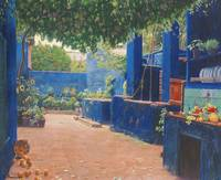 Santiago Rusiñol 1861 - 1931 SPANISH THE BLUE COUR