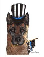 THIN BLUE LINE GERMAN SHEPHERD