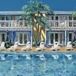 Shimmering Poolside Lafayette Hotel San Diego by RD Riccoboni