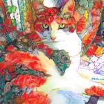 Flora Calico Cat  by RD Riccoboni