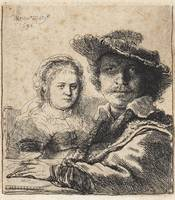REMBRANDT HARMENSZ VAN RIJN, Self-portrait with Sa