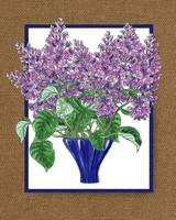 Lilac Bouquet Watercolor by Irina Sztukowski