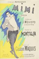 Sheet Music Mimi by Montoja and Gaston Maquis, per