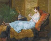 MASRIERA FRANCISCO SPANISH 1842-1902 Teatime