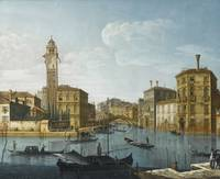 Pietro Bellotti VENICE, THE GRAND CANAL AT THE ENT