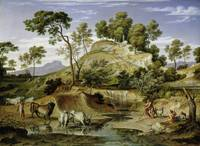 Joseph Anton Koch, Landscape with Shepherds and Co
