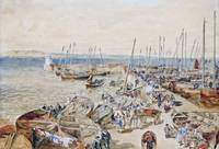 Samuel Bough - Newhaven Harbour on the Firth of Fo