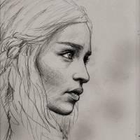 Emilia Clarke from Game of Thrones Art Prints & Posters by Rushikesh Shinde