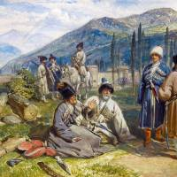 """William Simpson - Circassians at the Fort of Waia,"" by motionage"