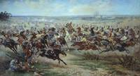 Viktor Mazurovsky (1859-1944). A Charge of the Rus