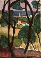 View of Collioure 1907 , Henri Matisse