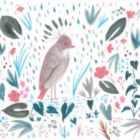Rainy Day Bird Art Prints & Posters by Femi Ford