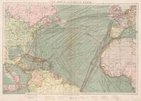 Vintage Atlantic Ocean Navagational Map (1905)