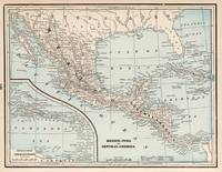 Vintage Map of Mexico (1893)