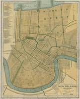 Vintage Map of New Orleans Louisiana (1893)