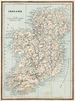 Vintage Map of Ireland (1893)