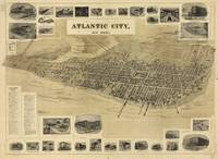 Vintage Pictorial Map of Atlantic City NJ (1900)