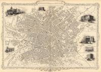 Vintage Map of Manchester England (1851)