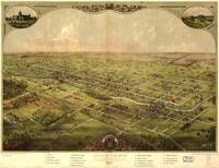 Vintage Pictorial Map of Lansing Michigan (1866)