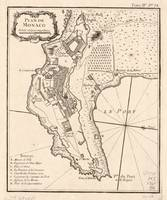 Vintage Map of Monaco France (1764)