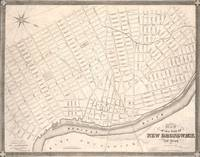 Vintage Map of New Brunswick NJ (1837)