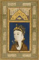 A Princess Holding a Flower, Persia, Safavid, date