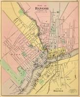 Vintage Map of Bangor ME (1894)