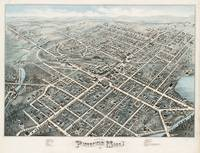 Vintage Pictorial Map of Pittsfield MA (1876)