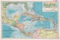 Vintage Map of The Caribbean Sea (1913)