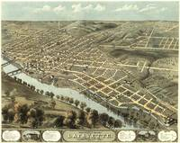 Vintage Pictorial Map of Lafayette Indiana (1868)