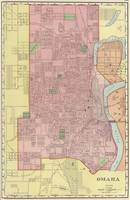 Vintage Map of Omaha Nebraska (1903)