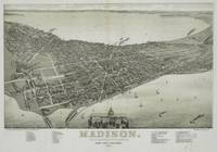 Vintage Pictorial Map of Madison WI (1885)
